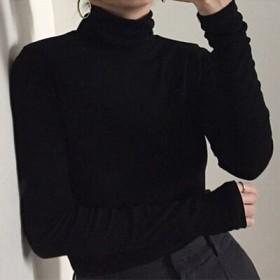 2019韓版修身半高領打底衫長袖T恤