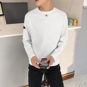 2019秋季新款長袖T恤男韓版潮流青年時尚純色