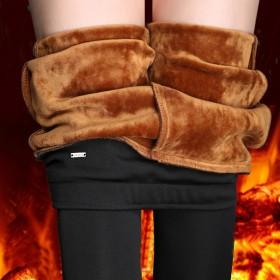 加絨秋冬褲子女外穿高腰小腳鉛筆打底褲