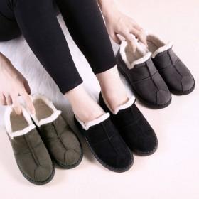 冬季棉鞋羊羔毛绒雪地靴女韩版学生百搭懒人休闲鞋加绒