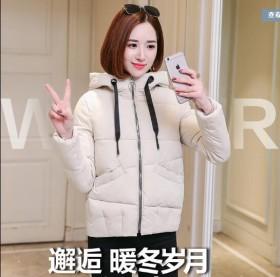 新款女短款加厚面包服寬松學生bf防寒羽絨棉服外套