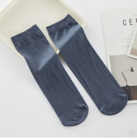 2019l男士透氣絲襪秋季薄款冰絲短襪