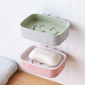 肥皂盒浴室置物架香皂架免打孔皂盒沥水卫生间肥皂架壁