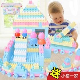 100顆 兒童積木拼裝益智玩具女孩顆粒男幼兒園寶寶
