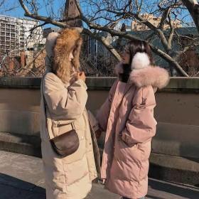 2019冬裝新款外套女加厚百搭棉衣面包服女中長棉服