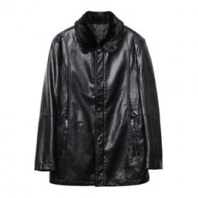 品牌剪標冬季男士皮衣毛領夾棉保暖休閑夾克外套男裝