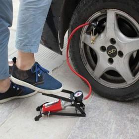 家用汽車腳踩打氣泵電瓶車打氣筒摩托車充氣泵便攜式車