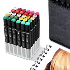 24色 繪畫推薦老師筆套裝便宜學生馬克動漫設計雙頭