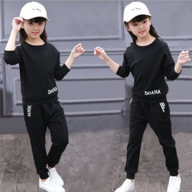 (上衣x褲子)6春秋裝8女童運動套裝10兒童裝7小