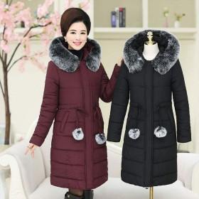 反季棉服中老年女裝外套中長款棉衣胖媽媽裝加厚棉襖冬
