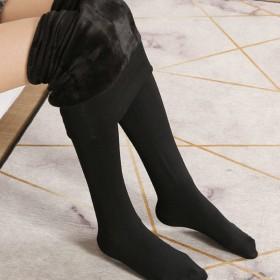 依饰凡打底裤女秋冬季加绒厚款保暖打底肉色黑色踩脚连