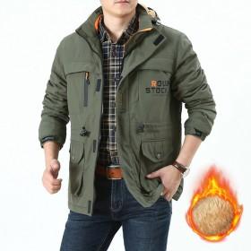 冬款男装和加绒棉衣男士中长款户外大码户外外套86A