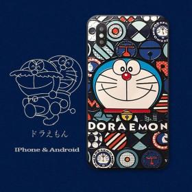叮当猫适用于苹果iphone11pro浮雕手机壳7