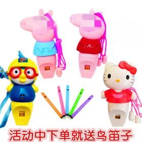 儿童口哨玩具小猪口哨幼儿园礼品生日乐器鸟笛子夜光小