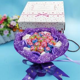 19颗真知棒糖果棒棒糖花束香皂花礼盒零食生日礼物圣