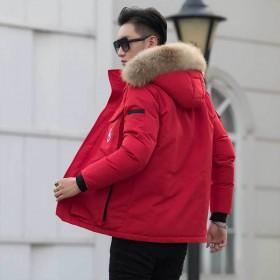 2019秋冬新品保暖休闲时尚棉衣加厚中长款毛领