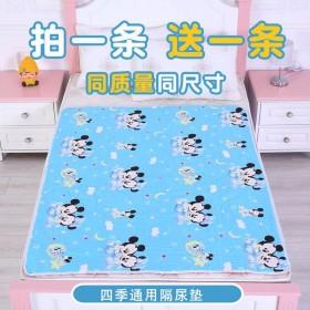 婴儿纯棉隔尿垫卡通图案防水可洗大号透气成人姨妈垫