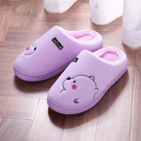 厚底防滑保暖月子鞋男女情侣款家居地板新款冬季棉拖鞋