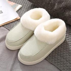 棉拖鞋女冬季情侣防滑家居保暖包跟厚底室内毛毛绒创意