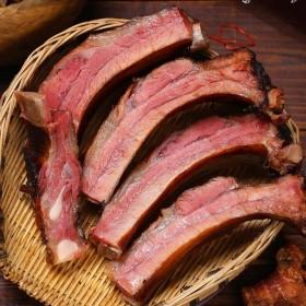 烟熏腊排骨2斤装柴火腊排骨湖南柴火烟熏排骨腊肉