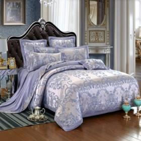 欧式四件套贡缎提花4件套全棉纯棉被套床上用品