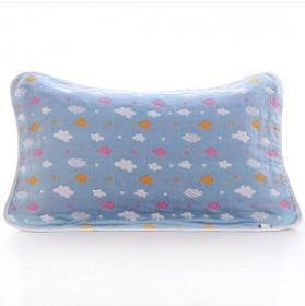 纯棉枕巾6层纱布全棉加厚加大枕头毛巾