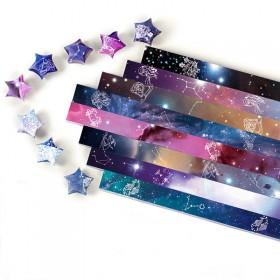 280/520/1314张卡通印花星星纸条叠幸运星