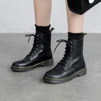 2019潮鞋马丁靴薄款抖音同款英伦风网红新款女靴