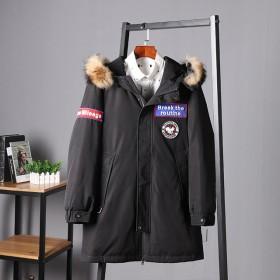 加拿大鹅中长款加厚保暖连帽羽绒服外套男装外套216