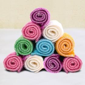 10条竹纤维百洁布 双层加大加厚洗碗布抹布不沾油