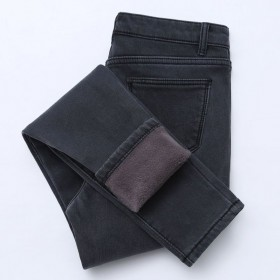 【高品质】加绒加厚高腰牛仔裤女弹力冬紧身外穿棉裤