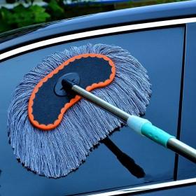 纯棉线可伸缩洗车拖把长杆刷车工具汽车用品