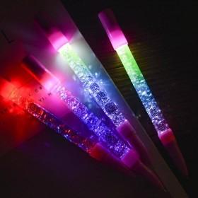 抖音同款发光仙女中性笔 亮片液体炫彩流沙笔魔法棒
