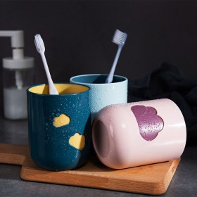 创意环保云朵情侣牙刷杯牙缸家用水杯洗漱杯子