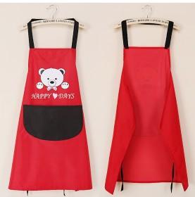 韩版创意可爱小熊挂脖擦手巾围裙擦手围裙防水