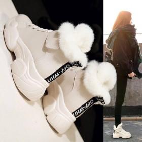雪地靴子2019新款女鞋冬季加绒棉鞋韩版百搭运动休