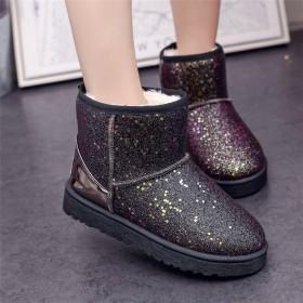 雪地靴女款学生韩版加厚短筒靴子女士新款防滑雪地棉鞋