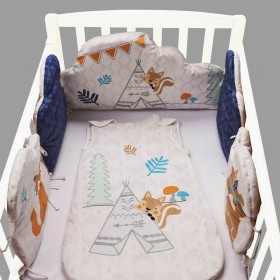 云朵形状床围丛林动物婴儿床布艺挡布婴儿围挡床维透气