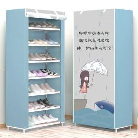 8层7格简易鞋架防尘组装鞋柜