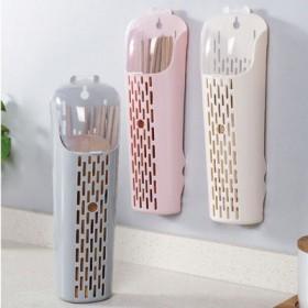 无痕防尘筷子笼筒带盖沥水筷笼塑料厨房勺子筷子收纳盒