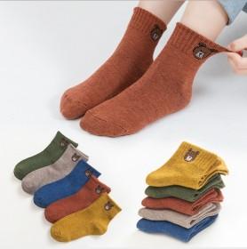 良品优衣酷2019 秋冬卡通儿童袜子二条杠童袜儿童