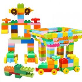 200粒大颗粒拼插积木兼容乐高玩具