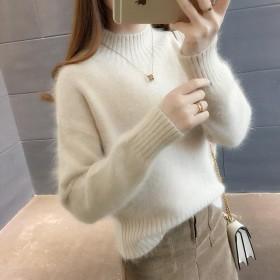 【优质仿水貂绒】毛衣女秋冬上衣针织衫套头打底衫