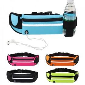 运动腰包带水壶位