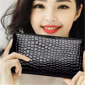 女手包2019新款時尚錢包長款簡約手拿包大容量皮錢
