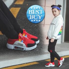 儿童ins超火运动鞋冬季男孩时尚加绒女孩透气跑步鞋