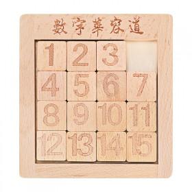 数字华容道木质玩具