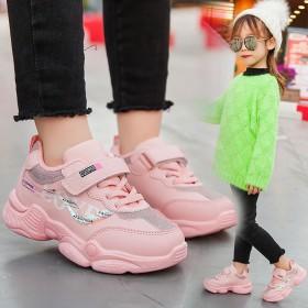 【加绒】女童运动鞋韩版2019秋季新款秋冬老爹运动