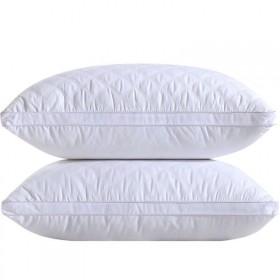 可水洗高弹枕头芯成人一对枕头护颈枕心《纤维枕(低枕