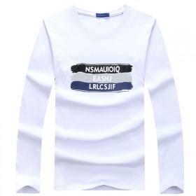 韩版男装秋季新款男式长袖T恤潮流休闲字母印花男